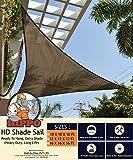 Hippo Triangle Sun Shade Sail - (95%) Sun Blockage - Extra Heavy Duty