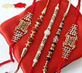 #2: TiedRibbons® Special Rakhi Gifts for Brother Set of 5 Rakhi with Roli Chawal Pack