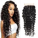 Ms Taj Brazilian Virgin Hair Deep Wave Closure 3 Part Unprocessd Virgin Human Hair Lace Closure 4x4