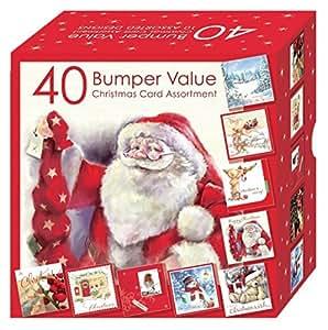 Weihnachtskarten set 10 verschiedene motive 40 st ck k che haushalt - Weihnachtskarten amazon ...