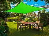 Cool Area toldo vela de sombra 3.6x3.6m Impermeable, PES cuadrado para jardín, Verde
