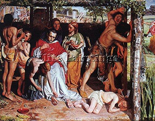hunt-british-family-christian-missionary-persecution-druids-tableaux-peinture-100x120cm-haute-qualit