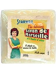 STARWAX FABULOUS 21016 Savon de Marseille à l'Huile d'Olive Cube - Lot de 4