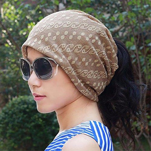 XINQING-MZ Multifunktionaler schal Kappe, Staubkappe Baotou Mütze glatze Chemotherapie Kappe auch Kappen mit der Kappe von schwangeren Frauen dünne, flexible, Braun set