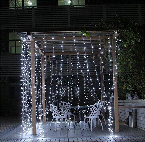 W-ONLY YOU-J Wasser Christmas net Lichte hell hintergrund 8 Modi Kinder Geschenke Outdoor Hof Garten Terrasse Parque 3 m , white