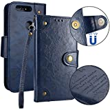 Huawei Honor 8 Case, Huawei Honor 8 Cover Thin Flip Cover Case Replacement Excellence Phone Case Compatible With Huawei Honor 8 By Danallc (Blue)