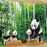 HONGYAUNZHANG Schwarz Und Weiß Riesigen Panda Benutzerdefinierte Fototapete 3D Stereoskopischen Wand Wohnzimmer Schlafzimmer Sofa Hintergrund Wandmalereien,110Cm (H) X 190Cm (W)