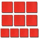 Reflektor band reflektor streifen,reflektor-aufkleber,rot,10pcs 60 x 60 mm,reflektierende verkehr warnung band