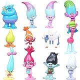 Mini Juego de Figuras, NALCY Pastel Decoración Suministros, Figuras de Troll Fiesta de Cumpleaños Figuras Cupcakes Decoración