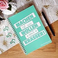 Wochenplaner Grün - Termin-Kalender Uni-Planer Jahresplaner Schülerkalender in DIN A5, 52 Wochen, ohne Datum + praktische Listen, Jahresübersichten & Motivationssprüche