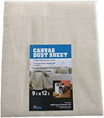 Arka Dust Sheet \ Drop Cloth, 4 Oz 9x12ft Protective Furniture Covers – Lightweight, Durable, Dust-Proof & Reusable for Painting, Decorating, Storage