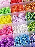 GadgetinBox™ - Loom XL Bänder Kit , Set mit 21 Farben 4200 Loom Bandz und Haken ,100 Clips CRAFT KIT