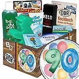 90 Geburtstagsgeschenke | Pflege Box | Geschenkbox | Pflegepaket | Geschenke 90. Geburtstag | mit Florena Creme, Elka Dent, Badusan und mehr