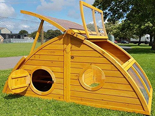 Hühnerstall Hühnerhaus Cocoon Hühnerstall sehr gross für 6 Vögel oder 10 Wachteln, abnehmbares Dach für einfachere Reinigung, mit Lüftungslöchern, mit stabilem Nistkasten, grosser Lebensraum und 210cm Lang inklusive Nistkasten - mehr als 130cm hoch - 5