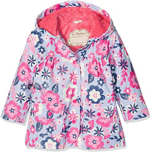 Hatley Girl's Printed Raincoat, Purple (Wintery Blooms), 4 Years