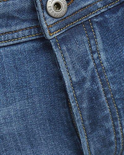 Jack & Jones Herren Slim Fit Jeans Denim Herrenhose Blau (Blue Denim Fit:SLIM jjiTIM 418)