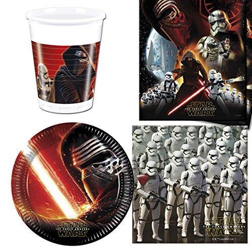 Star Wars Episodio VII Vajilla Paquete para 8