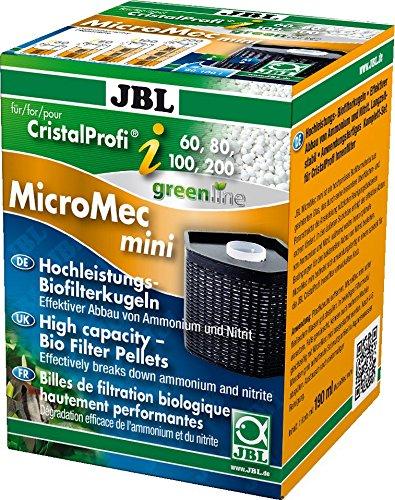 JBL MicroMec Mini Billes de Filtration pour CristalProfi i-Série pour Aquariophilie 190 ml