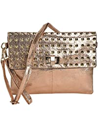 FT Synthetic Leather Made Sling Bag For Women-Copper
