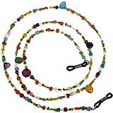 MagiDeal Colorato Acrilico Lettura Occhiali da sole Occhiali da sole Cord Holder Collante Occhiali da sole Scollatura Lanyard