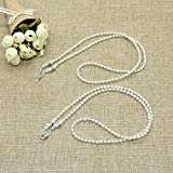 IDS 2PCS Pearl Beaded Eyeglass Chain Sunglass Holder Strap Lanyard Necklace By IDSWhite