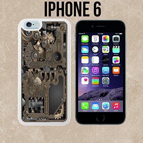 ouucase mécanique Steampunk Engrenages fabriqué sur mesure étui/housse/étui Skin pour iPhone 6-Blanc-DIY HD Housse PC Pour New Design