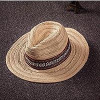 WYM Verano A Lo Largo Del Sombrero De Paja Sombrero De Los Hombres De Playa Sunscreen Roca Grande Playa Sombrero Sombrero Juvenil Hembra Transpirable Sombra