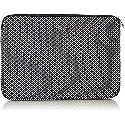 Kipling Laptop Cover 15, Bolsa para portátil Unisex Adulto, (Retro Geo Black)