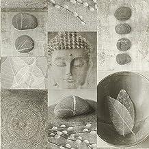 Cocina Baño Buda azulejos papel pintado lavable vinilo hojas Pebble brillante Rasch