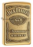 Zippo 1350003 Jack Daniel's Label Brass - Mechero con relieve