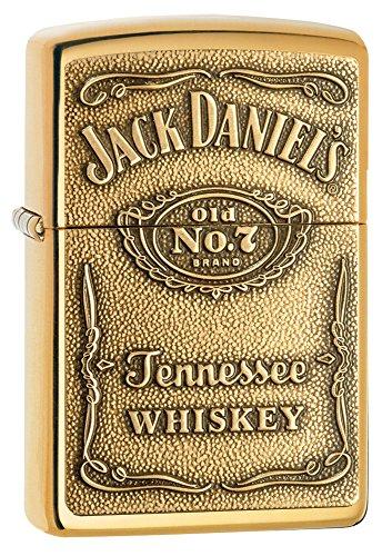 Zippo 1350003 Feuerzeug Jack Daniel's Label Brass Fine Gold Plate