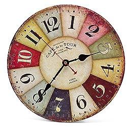 Descrizione:      L'orologio da parete rotondo silenziato (10 pollici) è un orologio elegante di progettazione e nel nostro negozio ci sono molti schemi che soddisfano tutte le esigenze di decorazione.   Questo orologio è senza cornice e senz...