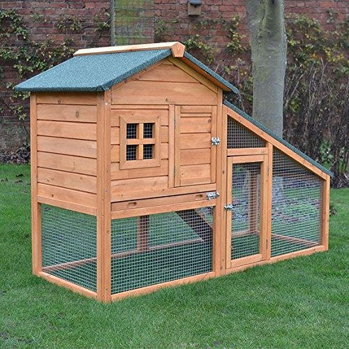 61LVqgjYV L - BEST PET STORE FeelGoodUK Rabbit Hutch, 150 x 66 x 100 cm PRICE Review UK
