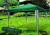 ITALFROM Pavillon Teleskop Faltbar Klappbar 3x 3mt grün für Outdoor Camping Strand Zelt Garten