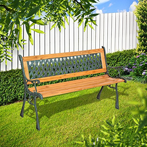 "TecTake Gartenbank Parkbank Holz – diverse Modelle – (""Tamara"" 127 x 51 x 73cm | Nr. 401423) - 3"