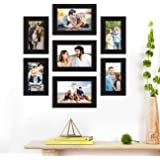 Art Street Synthetic Wood Best Wall Photo Picture Frame for Home Decor with Hanging Accessories (Size-4x6, 5x7 inches, Black)