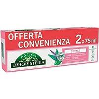 Antica Erboristeria Dentifricio Totale, con Ingredienti di Origine Naturale, con Salvia e Zinco, Confezione 2 Pezzi x 75…