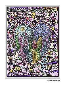 Ravensburger - 28884 7 - Numéro d'Art - Rizzi - It'S Heart Not To Love My City