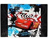 Schreibtischunterlage Cars - mit NAMEN - 60 cm * 40 cm - PVC Unterlage / Schreibunterlage / Tischunterlage / Knetunterlage Disney Cars Lightning McQueen Francesco