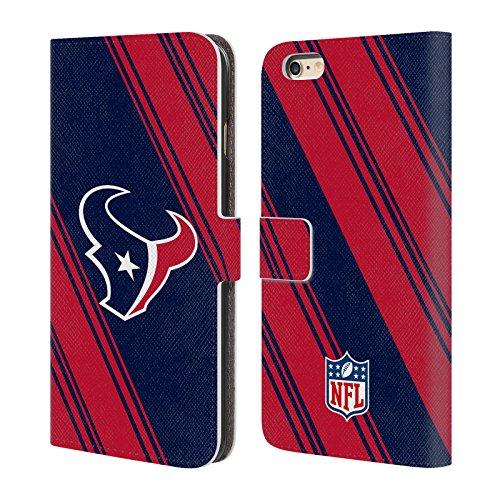 Ufficiale NFL Marmo 2017/18 Houston Texans Cover a portafoglio in pelle per Apple iPhone 4 / 4S Righe