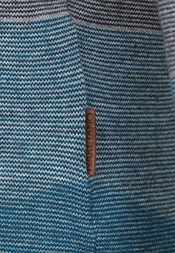 Naketano Female Knit Joao Schmierao Petrol Melange Striped