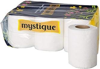 Mystique 2 Ply Toilet Tissue Paper Roll, 6 Rolls