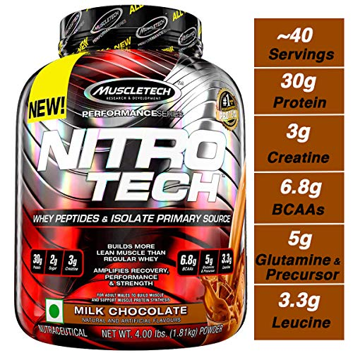 Muscletech Nitro-Tech Performance Series - Milk Chocolate, 1er Pack (1 x 1.8 kg) -