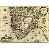 Map Janssonius 1644 South Norway Stavanger Bergen Large