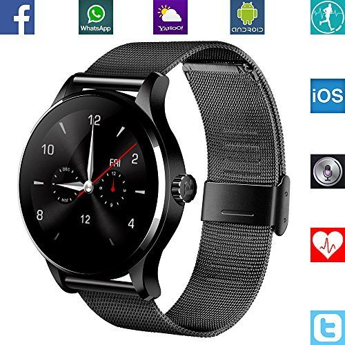 Banaus-B2-IP68-Waterproof-Sport-SmartWatch-Heart-Rate-Monitor-Bluetooth-40-Nano-SIM-for-Samsung-S4-S5-S6-S7-Note3-Note4-Note5-Note6-HTC-Sony-LG-Xiaomi-Huawei-ZUK-iPhone-5-5C-5S-6-6S-Black-Black-1