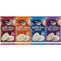 Wise Crack Organic Rice Cakes Family Variety Pack - Brown Rice 105g, Quinoa Power 105g, Super Seeds 105g, Flax Lovers…