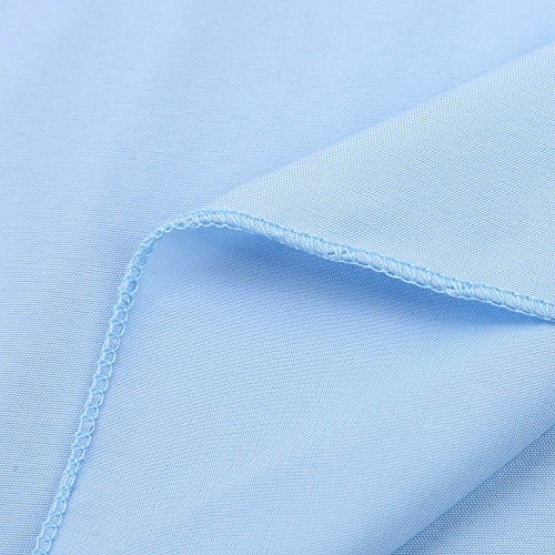 Longra Donna Cucitura a nastro per ricami, maglietta per il tempo libero del manicotto Blu