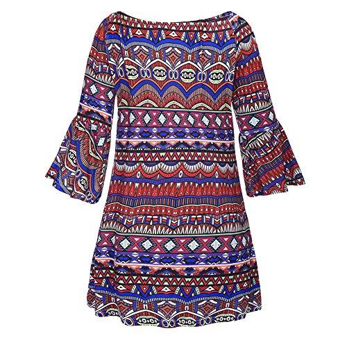 Cuddty Beach Dress Flare manica corta, collo vita alta off abito primavera estate donna Floaral casual vestito W560