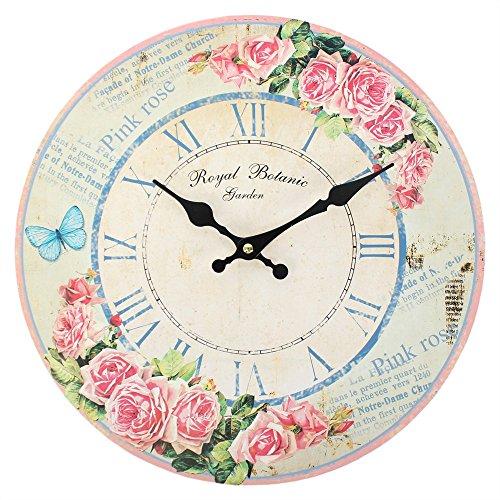 Rose Butterfly Uhr, 24cm