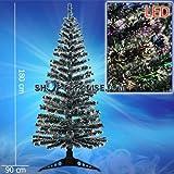 Glasfaser LED Weihnachtsbaum beleuchtet farbwechsel zwei teilig 180 cm